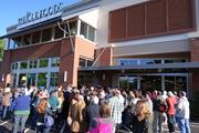 The N.C. A&T State University drumline led the crowd into the newly opened Whole Foods store in Greensboro.