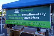 Whole Foods offered free breakfast and coffee for the crowd before opening its doors.