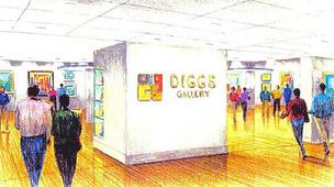 A rendering of what the Diggs Gallery will look like when renovations are completed.