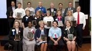 The winners and finalists at the Triad's Healthiest Employers awards breakfast on Friday. Front row, from left to right: Ashley Kohlrus of Allegacy Federal Credit Union, Kimberly Reaves of UnitedHealthcare, Gay Kindley of Nexsen Pruet, Chris Torggler of Precor and Kirsten Royster of Forsyth Medical Center.Middle row, from left to right: Janie Griffin and Cindy Novak of Elon University, Bev Allred of Graphic Visual Solutions, Elizabeth Privette of Replacements Ltd., Dorle Webster of Strategic Employee Benefit Services, and Doug Copeland, president and publisher of The Business JournalBack row, from left to right: Steve Dollase of Inmar, Chip Ross of Syngenta, Matt King of The Sales Factory, Jim Price of Davidson County, Neal Anderson of Acme-McCrary, Noel Burt of Cone Health and Dick Donahey of Alamance Regional Medical Center.