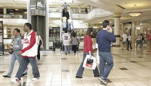 Shoppers at Four Seasons Town Centre.