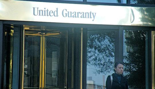 United Guaranty reported an operating loss of $23 million in the fourth quarter.