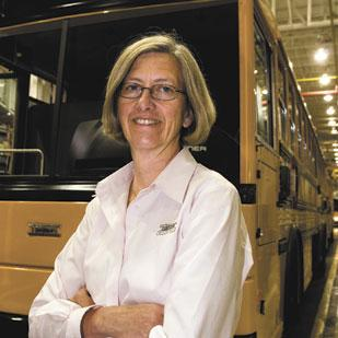 Kelley Platt has developed a host of strategies to lead Thomas Built Buses, which employs about 1,300 people and ranks as one of the Triad's largest manufacturers.