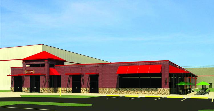 This is an artist's rendering of the $33 million Sheetz distribution center planned for Burlington