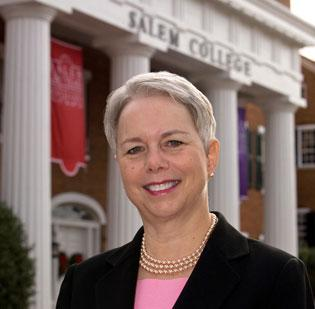 Susan Pauly, president of Salem College in Winston-Salem, will be guiding the historic school through a new growth plan, which includes the construction of a student center, the first new building on the campus in half a century.