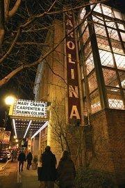 The Carolina Theatre on Greene Street in downtown Greensboro.
