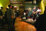 A band performs at the Green Bean on Elm Street in downtown Greensboro.