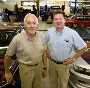 Ray Korman, left, is owner and Allen Patterson is manager of Korman Autoworks Inc. in Greensboro.