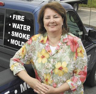 Carol Horton is president of Bridgeport Restoration Services in Kernersville.