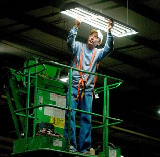 Rules related to the phase-out of consumer-grade old-fashioned incandescent T12 bulbs are creating the need for businesses to retrofit light fixtures to fit the energy efficient T8 bulbs.