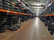 An inventory of tires in the company's warehouse.