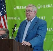 """Richard Linville, chairman of the Forsyth County Board of Commissioners, said the 493 jobs will have an average salary of about $40,000. Herbalife's locating in Winston-Salem """"puts this large facility back into public use,"""" Linville said."""