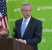 """Winston-Salem Mayor Allen Joines said the city would use new tax funds from Herbalife to pay back $2.25 million in incentives over a seven-year period. """"This is a good investment for our citizens,"""" Joines said."""