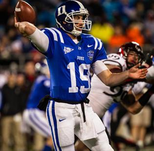 ACC school Duke played in the Belk Bowl last year. Organizers hope to land an annual regular-season college game at Bank of America Stadium within the next few years.
