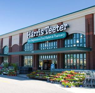Harrison Pointe is anchored by a Harris Teeter grocery store and a Staples office supply store.