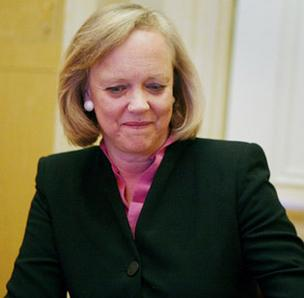 Hewlett-Packard CEO Meg Whitman's compensation package topped $15 million in 2012, less than a year earlier and consisting almost entirely of stock.