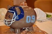 TBJ's CFO Awards featured many brightly colored piggy banks for table centerpieces.