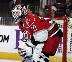Carolina Hurricanes goaltender Cam Ward.