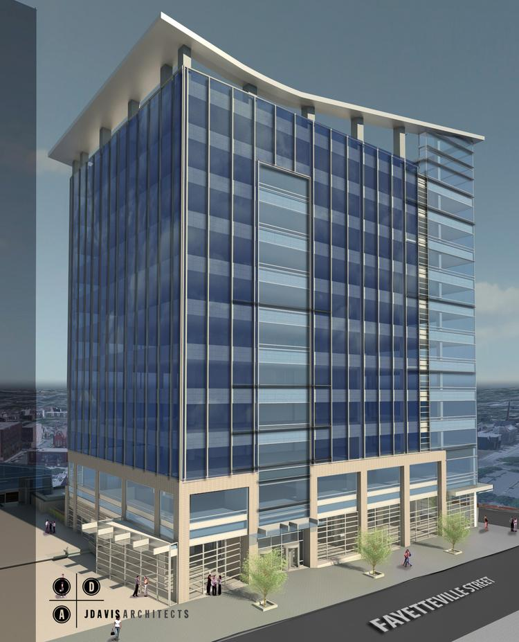 Proposed for downtown Raleigh is an 11-story building on the Charter Square site.