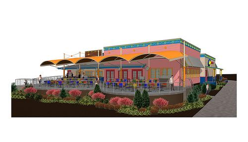 Rendering of the new Chuy's restaurant in North Hills.