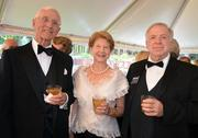 Graham and Maeomie Mosely along with Stan Williams enjoy the North Carolina Symphony's 80th anniversary gala.
