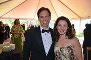 Sterling and Ashley Perkinson enjoy the North Carolina Symphony's 80th anniversary gala.
