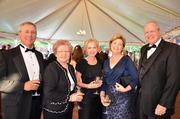 Denny Fingers, Catherine Arrowood, Chris Young along with Jean and Jeff Corbett enjoy the North Carolina Symphony's 80th anniversary gala.