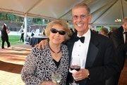 Billie Ann Peterson and Richard Bird enjoy the North Carolina Symphony's 80th anniversary gala.