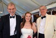 James Peacock along with Francine and Ralph Roberson enjoy the North Carolina Symphony's 80th anniversary gala.