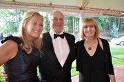 Sue Salomon along with Eric and Gale Sans enjoy the North Carolina Symphony's 80th anniversary gala.