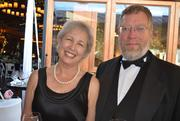 Bonnie Medinger and David Lewis enjoy the North Carolina Symphony's 80th anniversary gala.