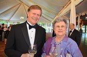 Meredith Stringfield Oates and John Medinger enjoy the North Carolina Symphony's 80th anniversary gala.
