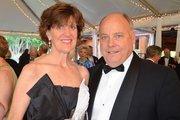 Kathryn and David Stover enjoy the North Carolina Symphony's 80th anniversary gala.