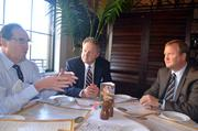 I learned a lot about business strategy during this business lunch at BrioTuscan Grille at Crabtree Valley Mall with Abrams, Franklin Holdings CFO Gregg Davis and Stonewood Insurance CEO Steve Hartman.