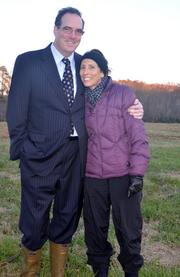 Rosalind wanted one last photo of her and Adam together at the farm.