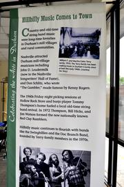 Right now, the only thing in the Hub (besides the fresh coat of paint) are signs highlighting Durham's unique history. Organizers hope to open the museum to the public by 2013.