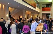 The crowd fills up the lobby of Meymandi Concert Hall inside the Progress Energy Center for the Performing Arts.