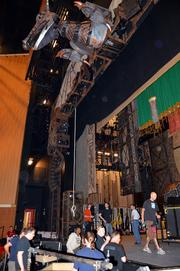 """It takes 12 trucks to bring in all the equipment needed to set up """"Wicked."""""""