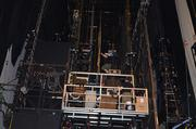 Once back to work the crew were up in the rafters, making sure all the gears and cogs were ready to spin.