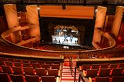 A view of the DPAC stage from the upper balcony.