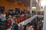 Fans of the musical, West Side Story, head to their seats inside the Durham Performing Arts Center.