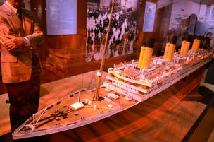 Titanic exhibition.