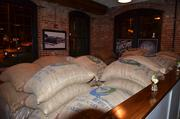 Giant bags of cocoa beans from Venezuela are used in creating Videri's chocolate bars.