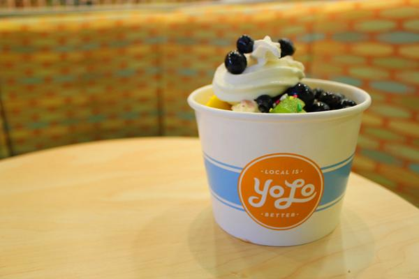 YoLo is installing a pair of frozen yogurt machines in the University of Memphis Bookstore's cafe.