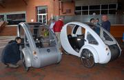 """The """"cars"""" can go anywhere a bike can go, says creator Rob Cotter."""