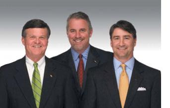 Richard Callicutt, center, chief operating officer of Bank of North Carolina will soon be the CEO.