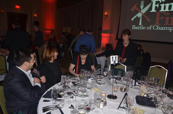 The judges table prior to the dining with the Umstead's Daniel Benjamin, 100.7FM The River's Kitty Kinnin, CNN's Kat Kinsman and DK Communications Susan Dosier (from left to right).