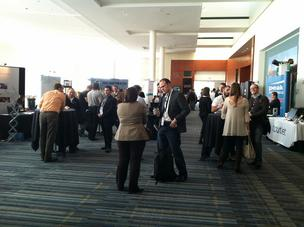 Attendees mingle at the Internet Summit.