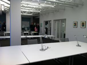 These desks will soon be filled with local entrepreneurs.