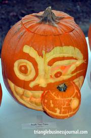 "This pumpkin was titled ""Death Star Eater."""